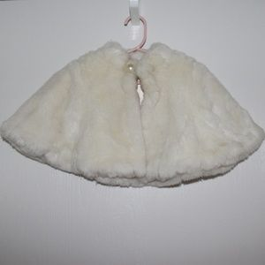 Other - Baby Girls 6-12 M Faux Fur Poncho Coat Christmas